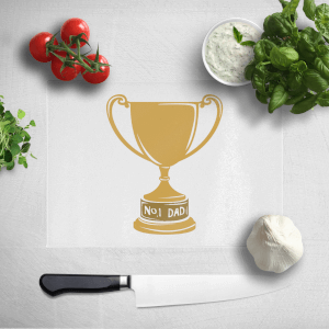 No.1 Dad Trophy Chopping Board