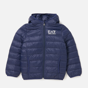 Emporio Armani EA7 Boys' Train Core ID Down Light Hoodie Jacket - Navy