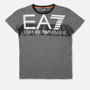 Emporio Armarni EA7 Boys' Train Visibility Short Sleeve T-Shirt - Dark Grey Melange
