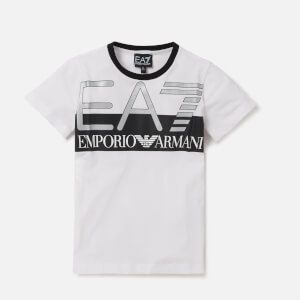Emporio Armani EA7 Boys' Train Visibility Short Sleeve T-Shirt - White
