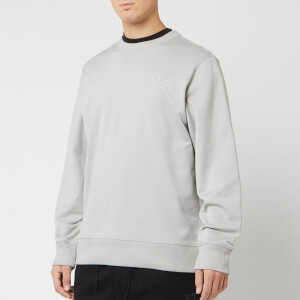 Y-3 Men's Logo Crew Neck Sweatshirt - Archive Grey