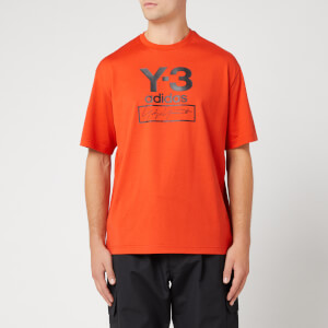 Y-3 Men's Stacked Logo Short Sleeve T-Shirt - Icon Orange