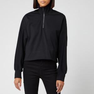 Y-3 Women's Staked Logo Half Zip Sweatshirt - Black