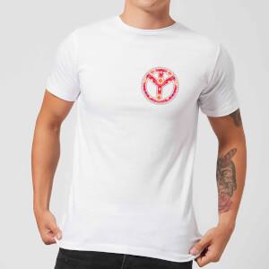 Floral Pattern Peace Symbol Men's T-Shirt - White