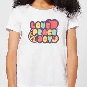Love Peace Joy Women's T-Shirt - White