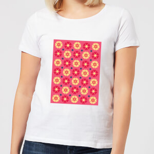 FLORAL PATTERN Women's T-Shirt - White