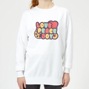 Love Peace Joy Women's Sweatshirt - White