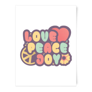 Love Peace Joy Art Print