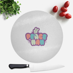 Peace Man Round Chopping Board