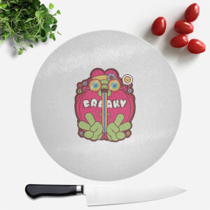 Hippie Psychedelic Cartoon Round Chopping Board