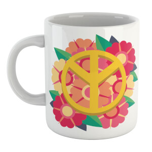 Peace Symbol Floral Mug