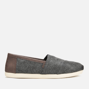 TOMS Men's Alpargata Herringbone Slip-On Pumps - Dark Grey