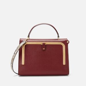 Anya Hindmarch Women's Postbox Python Print Medium Bag - Red