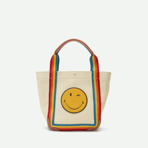 Anya Hindmarch Women's Printed Wink Pont Mini Canvas Tote Bag - Stone