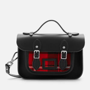 The Cambridge Satchel Company Women's Mini Satchel - Black with Strome Cunningham Tartan