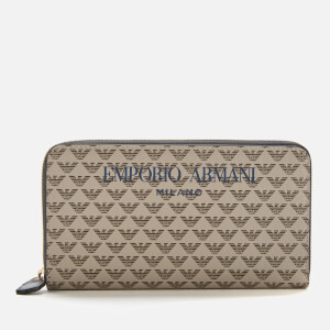 Emporio Armani Women's Large Zip Around Wallet - Ecru/T.Moro