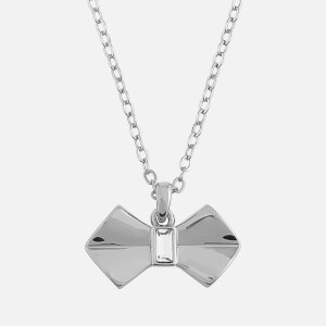 Ted Baker Women's Sarahli Solitaire Bow Pendant - Silver