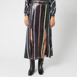 Olivia Rubin Women's Astrid Skirt - Black Thin Stripe