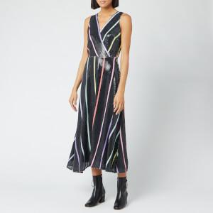 Olivia Rubin Women's Thea Dress - Black Thin Stripe