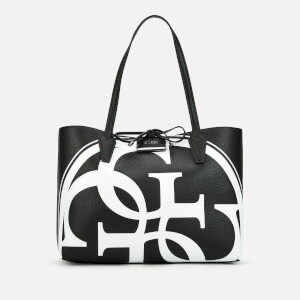 Guess Women's Reversible Bobbi Logo Tote Bag - Black/White