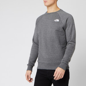 The North Face Men's Raglan Redbox Crew Neck Sweatshirt - TNF Medium Grey Heather