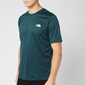 The North Face Men's Reaxion Amp Short Sleeve Crew Neck T-Shirt - Ponderosa Green Heather