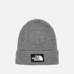 The North Face Men's Logo Box Cuffed Beanie Hat - TNF Medium Grey Heather