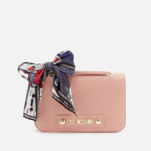 Love Moschino Women's Shoulder Bag with Scarf - Pink