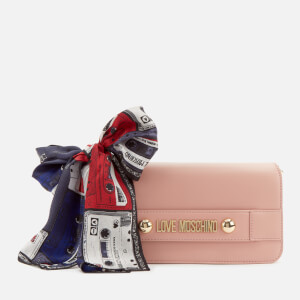 Love Moschino Women's Cross Body Bag with Scarf - Pink