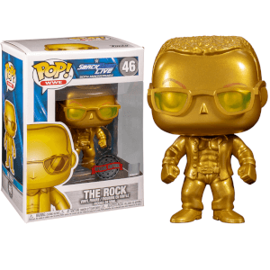 WWE The Rock (Metallic) EXC Pop! Vinyl Figure