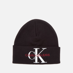 Calvin Klein Jeans Women's Basic Women Knitted Beanie - Black Beauty