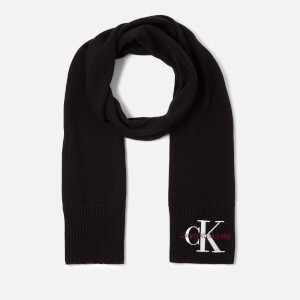Calvin Klein Jeans Women's Basic Women Knitted Scarf - Black Beauty