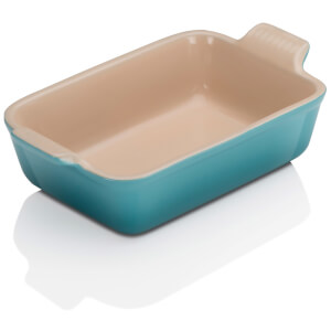 Le Creuset Stoneware Small Heritage Rectangular Roasting Dish 19cm - Teal