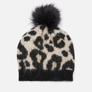 Superdry Women's Lisa Leopard Beanie - Brown Print