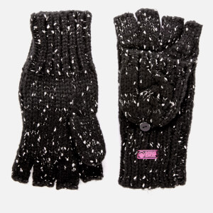 Superdry Women's Gracie Cable Gloves - Black