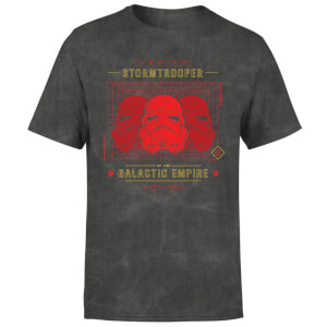 Star Wars Stormtrooper Legion Grid Men's T-Shirt - Black Acid Wash