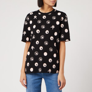 McQ Alexander McQueen Women's Pleat Back T-Shirt - Darkest Black