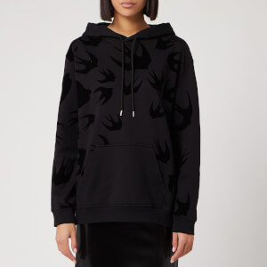 McQ Alexander McQueen Women's Boyfriend Pocket Hoody - Darkest Black