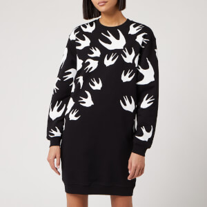 McQ Alexander McQueen Women's Classic Sweat Dress - Darkest Black