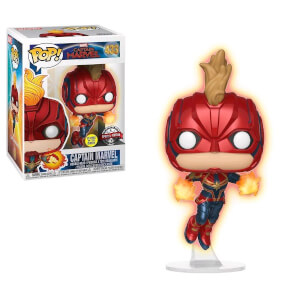 Marvel Captain Marvel Masked GITD EXC Pop! Vinyl Figure