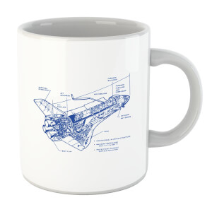 Shuttle Side View Schematic Mug