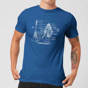 Command And Service Module Schematic Men's T-Shirt - Royal Blue