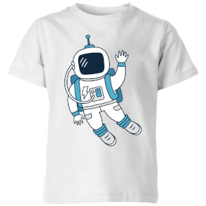 Astronaut Waving Kids' T-Shirt - White