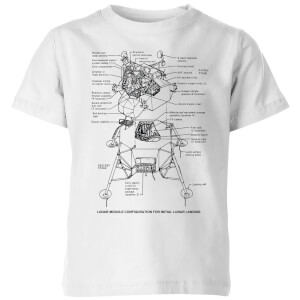 Lunar Schematic Kids' T-Shirt - White