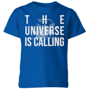 The Universe Is Calling Schematic Kids' T-Shirt - Royal Blue
