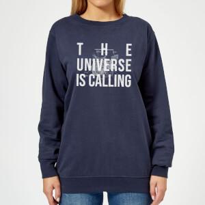 The Universe Is Calling Schematic Women's Sweatshirt - Navy