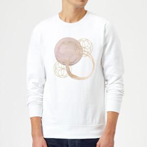 Watercolour Swirls Sweatshirt - White