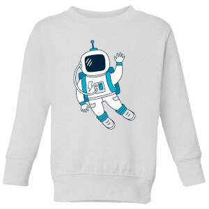 Astronaut Waving Kids' Sweatshirt - White