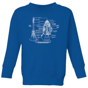 Command And Service Module Schematic Kids' Sweatshirt - Royal Blue