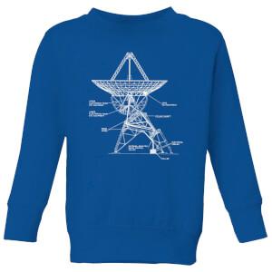 Satellite Schematic Kids' Sweatshirt - Royal Blue